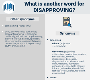 disapproving, synonym disapproving, another word for disapproving, words like disapproving, thesaurus disapproving