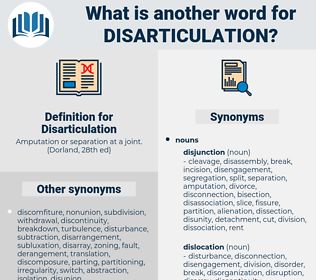 Disarticulation, synonym Disarticulation, another word for Disarticulation, words like Disarticulation, thesaurus Disarticulation
