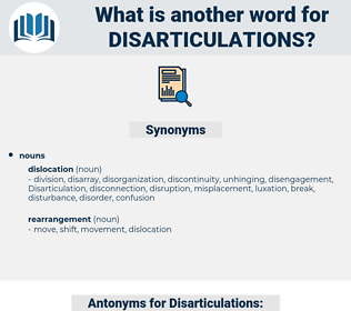 Disarticulations, synonym Disarticulations, another word for Disarticulations, words like Disarticulations, thesaurus Disarticulations