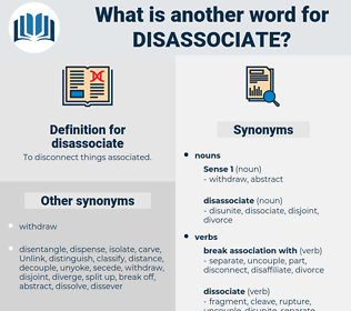 disassociate, synonym disassociate, another word for disassociate, words like disassociate, thesaurus disassociate