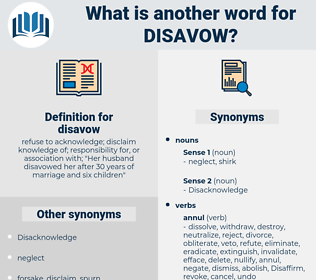 disavow, synonym disavow, another word for disavow, words like disavow, thesaurus disavow