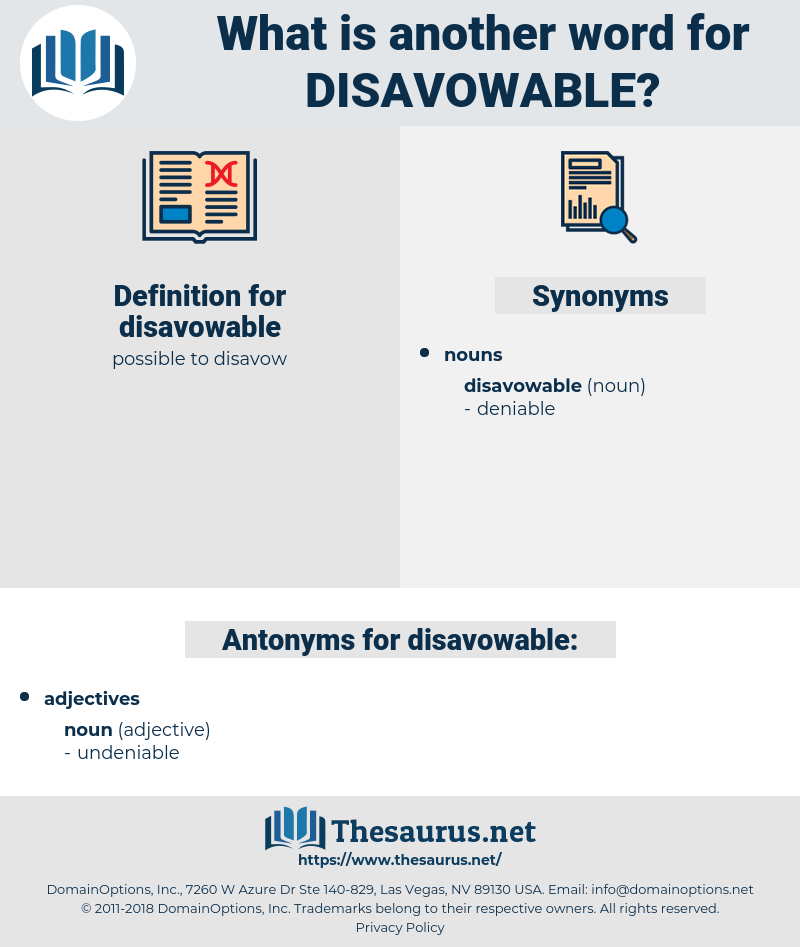 disavowable, synonym disavowable, another word for disavowable, words like disavowable, thesaurus disavowable