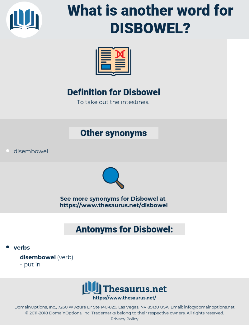 Disbowel, synonym Disbowel, another word for Disbowel, words like Disbowel, thesaurus Disbowel