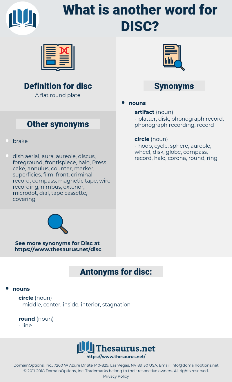 disc, synonym disc, another word for disc, words like disc, thesaurus disc