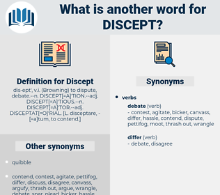 Discept, synonym Discept, another word for Discept, words like Discept, thesaurus Discept