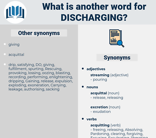 Discharging, synonym Discharging, another word for Discharging, words like Discharging, thesaurus Discharging