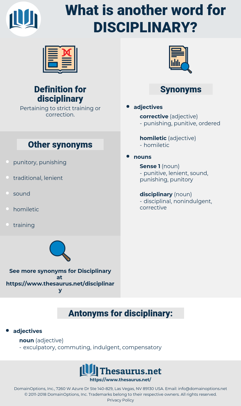 disciplinary, synonym disciplinary, another word for disciplinary, words like disciplinary, thesaurus disciplinary