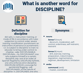 discipline, synonym discipline, another word for discipline, words like discipline, thesaurus discipline