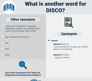 disco, synonym disco, another word for disco, words like disco, thesaurus disco