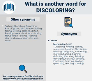 Discoloring, synonym Discoloring, another word for Discoloring, words like Discoloring, thesaurus Discoloring