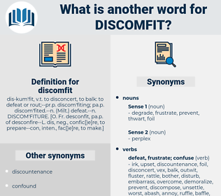 discomfit, synonym discomfit, another word for discomfit, words like discomfit, thesaurus discomfit