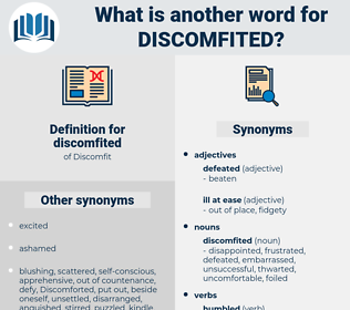 discomfited, synonym discomfited, another word for discomfited, words like discomfited, thesaurus discomfited