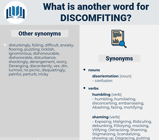 Discomfiting, synonym Discomfiting, another word for Discomfiting, words like Discomfiting, thesaurus Discomfiting