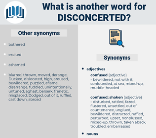 disconcerted, synonym disconcerted, another word for disconcerted, words like disconcerted, thesaurus disconcerted
