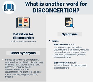 disconcertion, synonym disconcertion, another word for disconcertion, words like disconcertion, thesaurus disconcertion