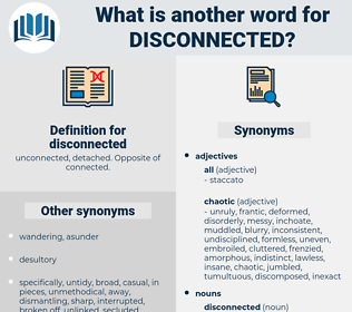 disconnected, synonym disconnected, another word for disconnected, words like disconnected, thesaurus disconnected