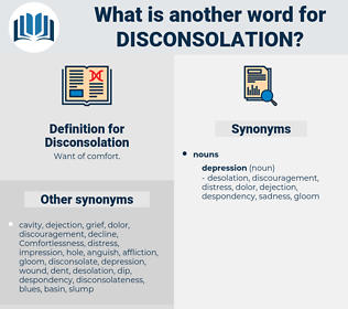 Disconsolation, synonym Disconsolation, another word for Disconsolation, words like Disconsolation, thesaurus Disconsolation