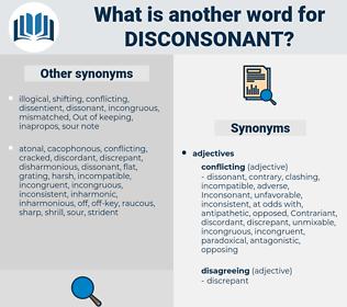 disconsonant, synonym disconsonant, another word for disconsonant, words like disconsonant, thesaurus disconsonant