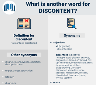 discontent, synonym discontent, another word for discontent, words like discontent, thesaurus discontent