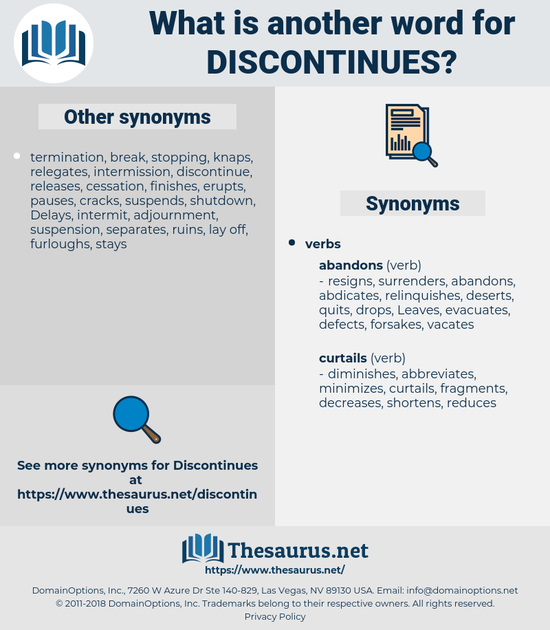 discontinues, synonym discontinues, another word for discontinues, words like discontinues, thesaurus discontinues