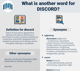 discord, synonym discord, another word for discord, words like discord, thesaurus discord