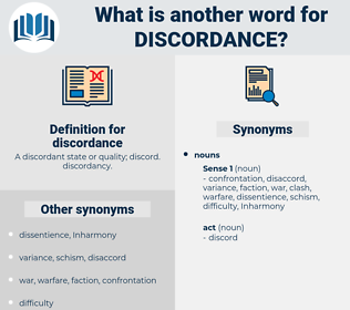 discordance, synonym discordance, another word for discordance, words like discordance, thesaurus discordance