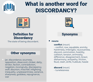 Discordancy, synonym Discordancy, another word for Discordancy, words like Discordancy, thesaurus Discordancy