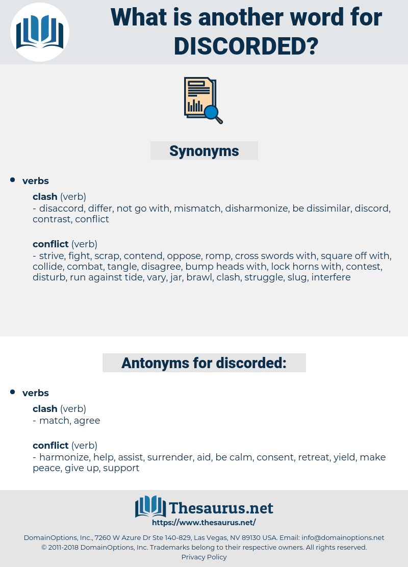 discorded, synonym discorded, another word for discorded, words like discorded, thesaurus discorded
