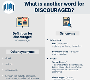 discouraged, synonym discouraged, another word for discouraged, words like discouraged, thesaurus discouraged