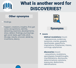 Discoveries, synonym Discoveries, another word for Discoveries, words like Discoveries, thesaurus Discoveries