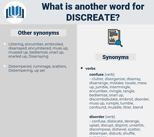 discreate, synonym discreate, another word for discreate, words like discreate, thesaurus discreate