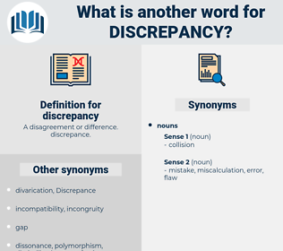 discrepancy, synonym discrepancy, another word for discrepancy, words like discrepancy, thesaurus discrepancy