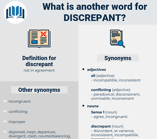discrepant, synonym discrepant, another word for discrepant, words like discrepant, thesaurus discrepant