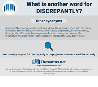 discrepantly, synonym discrepantly, another word for discrepantly, words like discrepantly, thesaurus discrepantly