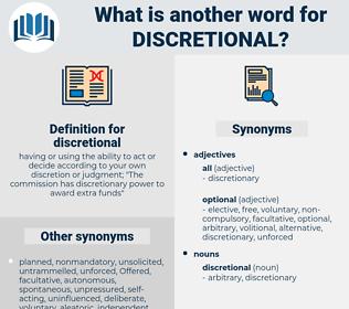 discretional, synonym discretional, another word for discretional, words like discretional, thesaurus discretional