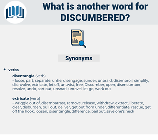 discumbered, synonym discumbered, another word for discumbered, words like discumbered, thesaurus discumbered