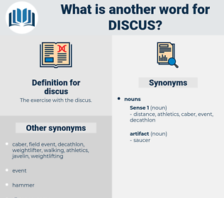 discus, synonym discus, another word for discus, words like discus, thesaurus discus