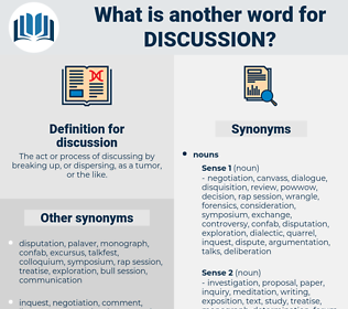 discussion, synonym discussion, another word for discussion, words like discussion, thesaurus discussion