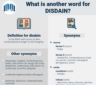disdain, synonym disdain, another word for disdain, words like disdain, thesaurus disdain