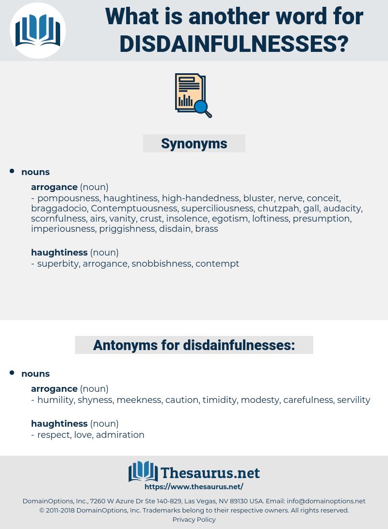 disdainfulnesses, synonym disdainfulnesses, another word for disdainfulnesses, words like disdainfulnesses, thesaurus disdainfulnesses