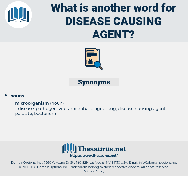 disease-causing agent, synonym disease-causing agent, another word for disease-causing agent, words like disease-causing agent, thesaurus disease-causing agent