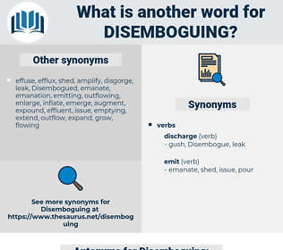 Disemboguing, synonym Disemboguing, another word for Disemboguing, words like Disemboguing, thesaurus Disemboguing
