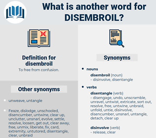 disembroil, synonym disembroil, another word for disembroil, words like disembroil, thesaurus disembroil