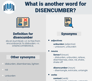 disencumber, synonym disencumber, another word for disencumber, words like disencumber, thesaurus disencumber