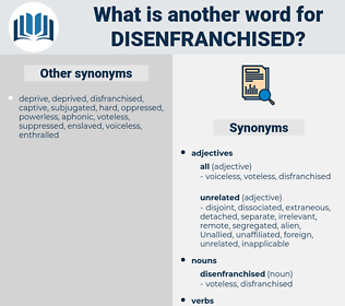 disenfranchised, synonym disenfranchised, another word for disenfranchised, words like disenfranchised, thesaurus disenfranchised