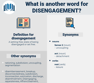 disengagement, synonym disengagement, another word for disengagement, words like disengagement, thesaurus disengagement