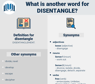 disentangle, synonym disentangle, another word for disentangle, words like disentangle, thesaurus disentangle