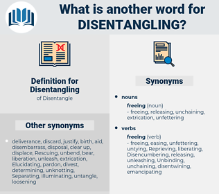 Disentangling, synonym Disentangling, another word for Disentangling, words like Disentangling, thesaurus Disentangling