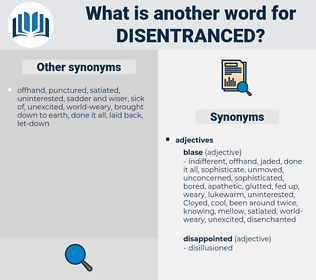 disentranced, synonym disentranced, another word for disentranced, words like disentranced, thesaurus disentranced