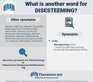 Disesteeming, synonym Disesteeming, another word for Disesteeming, words like Disesteeming, thesaurus Disesteeming